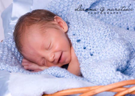 newborn baby portrait in Columbus Ohio