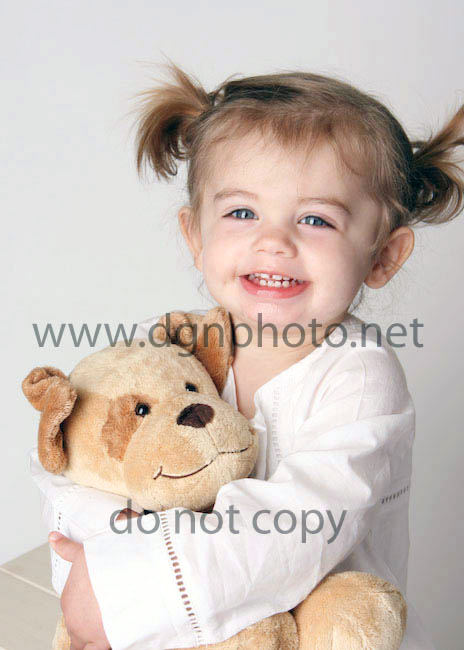little girl and dog from janie and jack photoshoots