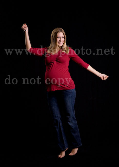 dancing maternity pictures