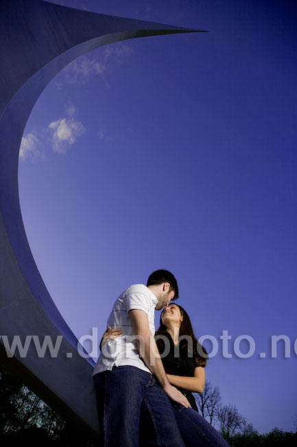 purple sky engagement photography