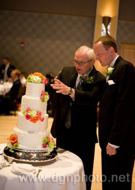 inspecting the cake