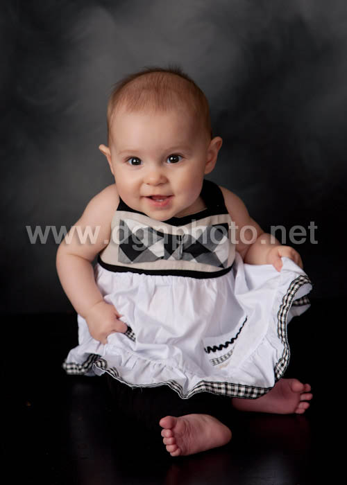 baby in a cute dress